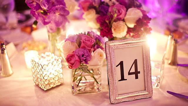 Numeriranje stolova na vjenčanju